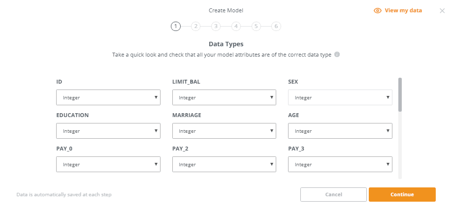 Confirm Model Attributes Are The Correct Data Type (Source - knowi.com)