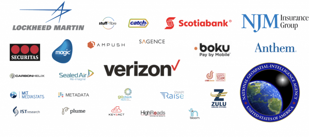 Logos of the amazing companies we have as customers